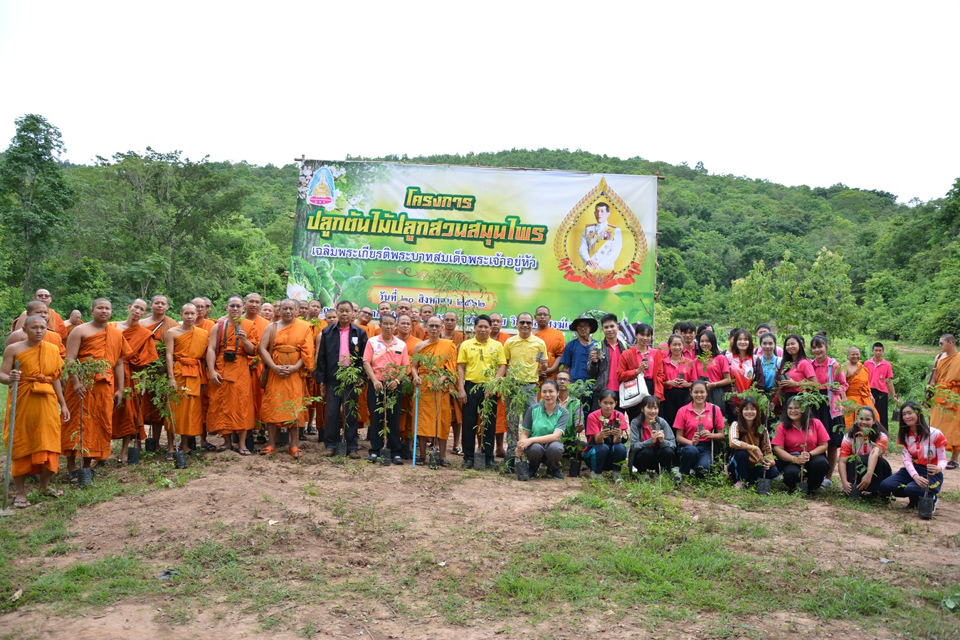 โครงการปลูกต้นไม้ปลูกสวนสมุนไพร